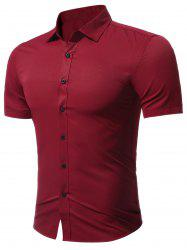 Slim Fit Short Sleeve Formal Business Shirt