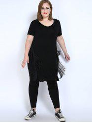 Fringe Plus Size Tunic Top
