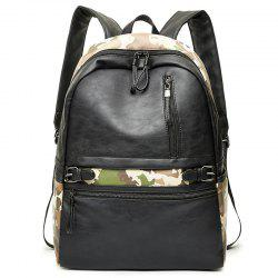 Faux Leather Camouflage Backpack