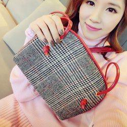 Cross Body Tweed Bag - RED