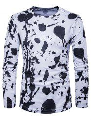 Splatter Paint Crew Neck Long Sleeve T-Shirt