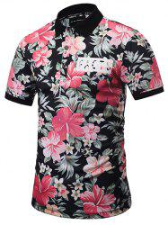 Short Sleeve Floral Polo Shirt - COLORMIX