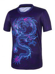 Dragon Print Short Sleeve Tee