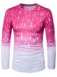 Crew Neck Ombre Splatter Paint Trippy T-Shirt