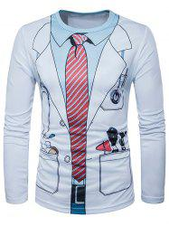 3D Doctor Costume Print Long Sleeve T-Shirt