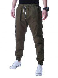Graphic Applique Design Beam Feet Jogger Pants
