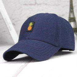 Printed Long Tail Pineapple Embroidery Baseball Cap