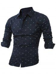 Long Sleeve Scattered Print Shirt