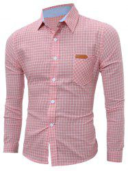 Manches longues Pocket Check Shirt - ROSE PÂLE