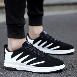 Faux Leather Tie Up Casual Shoes