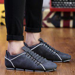 Colour Block Faux Leather Casual Shoes