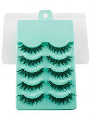 5 Pairs Dense Fake Eyelashes - EMERALD