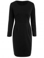 Long Sleeve Pencil Work Dress