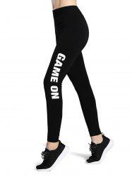 Game On Print Stretchy Sporty Leggings -