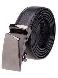 Polished Automatic Buckle Faux Leather Waist Belt