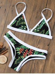 Tropical Printed Bikini Set - COLORMIX