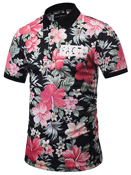 Short Sleeve Floral Hawaiian Polo ShirtMEN<br><br>Size: M; Color: COLORMIX; Material: Polyester; Sleeve Length: Short; Collar: Turn-down Collar; Style: Casual; Pattern Type: Floral; Season: Spring,Summer; Weight: 0.2890kg; Package Contents: 1 x Polo Shirt;