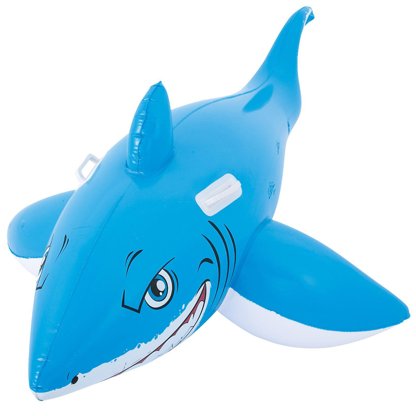 2019 Inflatable Shark Model Floating Ride On Toy With Handle ... b2b5bb87389f