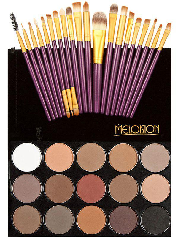 Eyeshadow Palette with Makeup Brushes SetBEAUTY<br><br>Color: COLORMIX; Category: Shadow; Type: Powder; Features: Hypoallergentic; Season: Fall,Spring,Summer,Winter; Length(CM): 22cm; Width(CM): 12cm; Weight: 0.2500kg; Package Contents: 1 x Eyeshadow Palette  20 x Brushes (Pcs)  1 x Bag;