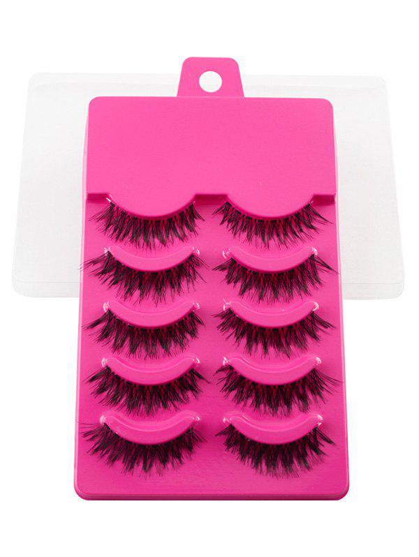Fashion 5 Pairs Dense Fake Eyelashes