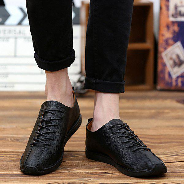 Outfit Tie Up PU Leather Casual Shoes
