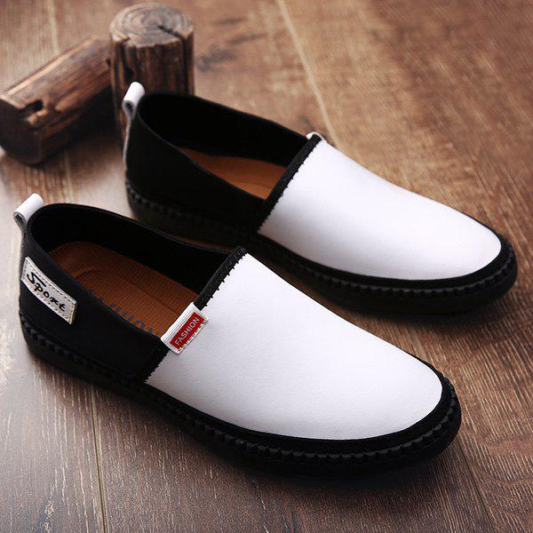 Discount Slip On Faux Leather Casual Shoes