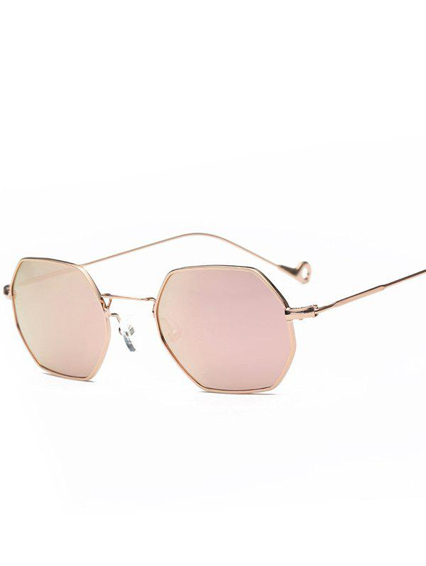 Best Hollow Out Leg Polygon Mirror Sunglasses