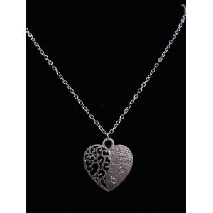 Engraved Letters Love Heart Pendant Necklace