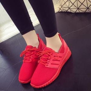 Breathable Mesh Letter Pattern Athletic Shoes -