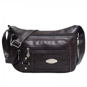 Cross Body Multi Zips Bag