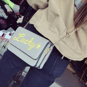 Flap Lucky Embroidered Crossbody Bag -