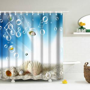 Thicken 3D Shell Water Repellent Shower Curtain - Lake Blue - 180*200cm
