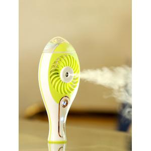 Portable Handheld Electric Humidifier USB Mini Fan - Grass Green