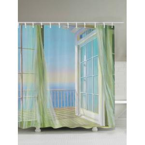 Bath Decor Balcony Seascape Shower Curtain