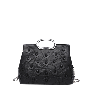 Faux Leather Stitching Rivets Handbag