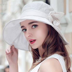 Folding Sun Proof Bucket Hat - Off-white