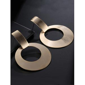Alloy Vintage Circle Drop Earrings - GOLDEN