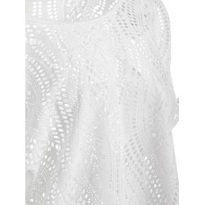 Cold Shoulder Batwing Beach Tunic Cover Up - WHITE ONE SIZE