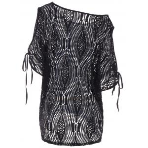 Cold Shoulder Batwing Beach Tunic Dress Cover Up -