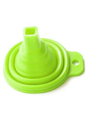 Chic Kitchen Accessory Silicone Folding Scalable Long Neck Funnel - GREEN  Mobile