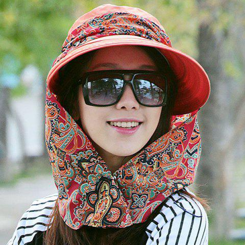Affordable UV Protection Folding Paisley Print Bucket Sun Hat