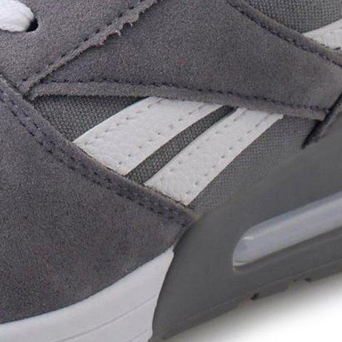 Online Color Block Breathable Suede Sneakers - 37 GRAY Mobile