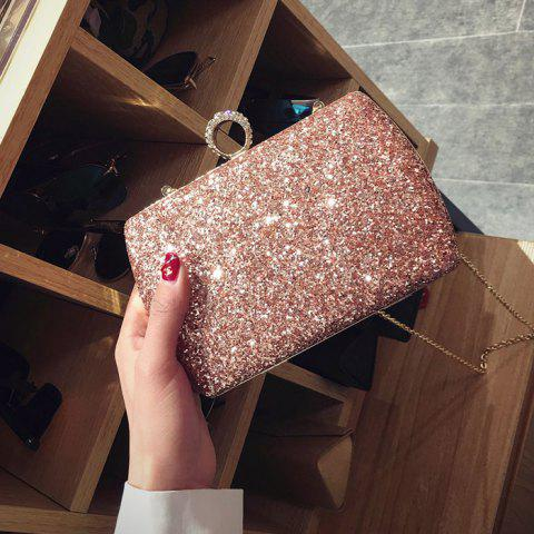 Affordable Sequins Glitter Evening Bag - PINK  Mobile