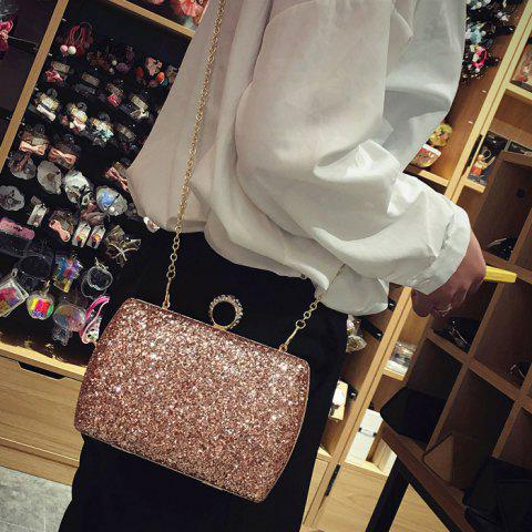 Fashion Sequins Glitter Evening Bag - PINK  Mobile