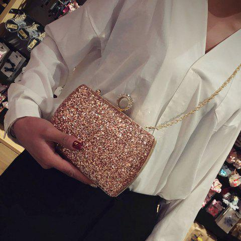 Shop Sequins Glitter Evening Bag - PINK  Mobile