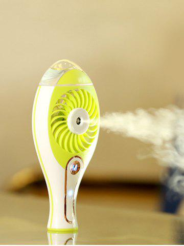 Online Portable Handheld Electric Humidifier USB Mini Fan GRASS GREEN