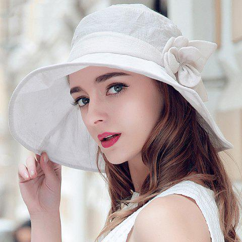 Best Folding Sun Proof Bucket Hat - OFF-WHITE  Mobile