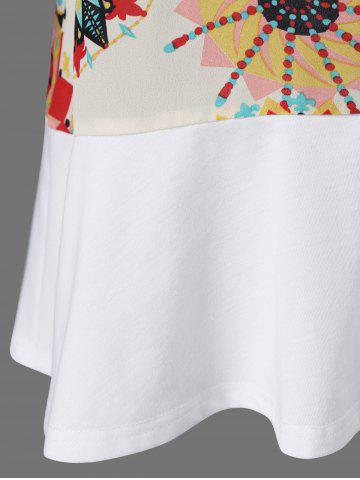 Store Flare Sleeve Graphic Longline T-Shirt - XL WHITE Mobile