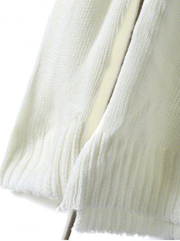 New Round Neck Long Sleeve Ombre Color Jumper - ONE SIZE(FIT SIZE XS TO M) WHITE Mobile