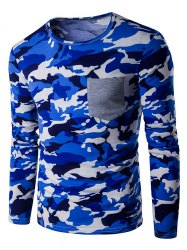 Crew Neck Camo Long Sleeve T-Shirt